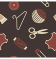 seamless background with sewing accessories vector image