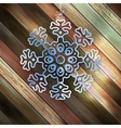 Paper christmas snowflake on a wood EPS 10 vector image vector image