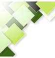 green rhombus shadow background vector image
