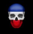 Yugoslavian flag skull vector image
