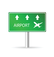 airport sign green vector image
