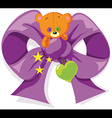 bear bow vector image