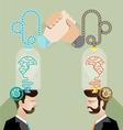 Brainstorming business team vector image