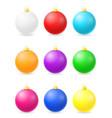 christmas balls stock vector image
