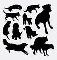 Dog pet animal silhouette 10 vector image