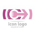 icon arrow letter c design symbol vector image