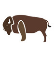 isolated abstract buffalo vector image