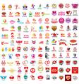 large set of logos holiday vector image