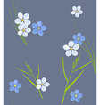 Seamless retro pattern of small flowers and grass vector image