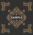 Art Decorative Geometric Frames and Borders Brown vector image