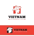 cute vietnam food restaurant logo vector image