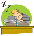 Sleeping on the job vector image