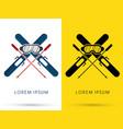 ski equipment composition vector image