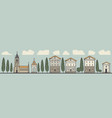 seamless horizontal ornament old european city vector image