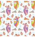 Indian dancer girl seamless pattern vector image vector image
