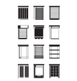 different interior blinds vector image