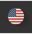 Round icon with flag of the USA vector image