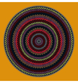 Ornamental Round Knitted Pattern vector image