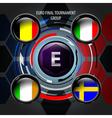 European Flag Buttons E vector image