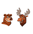 bear and moose vector image