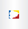 andorra map logo icon symbol vector image