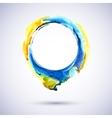 AquarelleRingYelBlue vector image