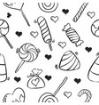 art of candy sweet doodle style vector image