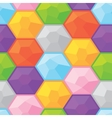 Colorful diamonds seamless graphic pattern vector image