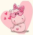 cute hippo girl vector image