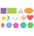 Geometric Shapes in Cartoon Form vector image