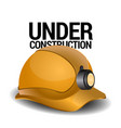isolated protection helmet vector image