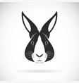 rabbit head design on white background wild vector image