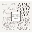 Set of seamless patterns with scribbles and vector image