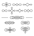 Vintage decorative swirls collection isolated on vector image