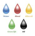 Droplets set vector image