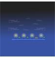 Graden at night landscape outline vector image