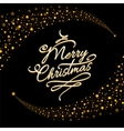 Christmas postcard with golden stars vector image