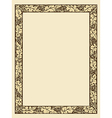 vintage photo frame with ornamental borders vector image