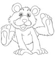 animal outline for grizzly bear vector image vector image
