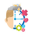man with healthy mentality care vector image