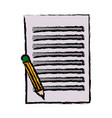 paper sheet with pencil writing image vector image