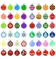 big collection of different christmas balls vector image vector image