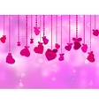 Valentines Day with hearts vector image