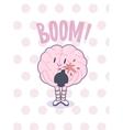 Boom brain poster vector image
