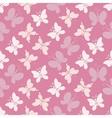 Butterflies in soft pink vector image