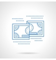 Flat blue line currency icon vector image