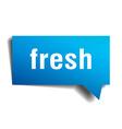 fresh blue 3d realistic paper speech bubble vector image