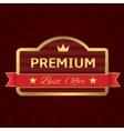 Golden Premium label vector image
