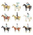Horse riding lessons vector image