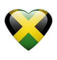 Jamaica flag button vector image